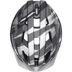 UVEX Air Wing CC Helm Kinder black/silver matt